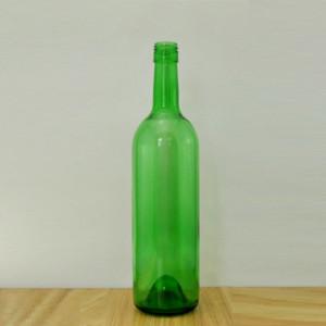 750ml Empty flint glass bottle empty glass wine bottle with screw cap