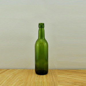 187ml wine bottle screw top dark green mini glass bottle