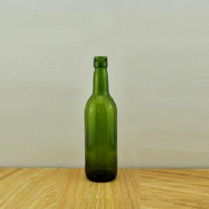 187ml wine bottle screw top dark green mini glass bottle