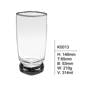 High quality clear glass juice cup beer cup Wide mouth glass cup for drinking wine