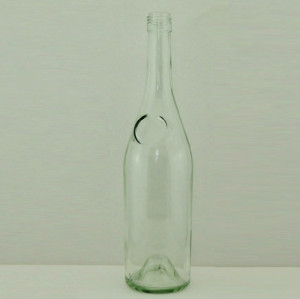 750ml wine bottle 75cl red wine bottle with logo for sale Empty glass bottle