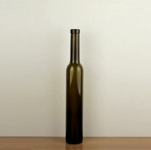 500ML cork finish clear ice wine glass bottle height 330mm