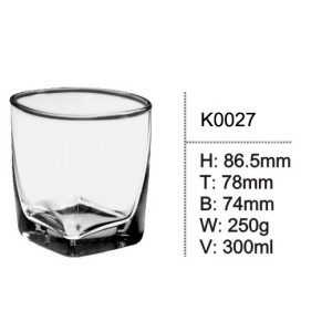 Square Glass Drinking Vodka Whiskey Glasses