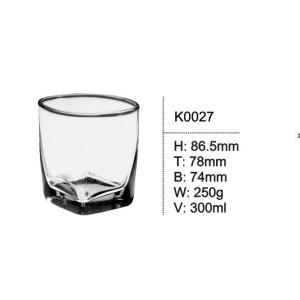 Square Glass Drinking Vodka Whiskey Glasses
