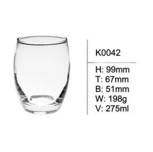 275ml Stemless Wine Glass Drinking Glass cup