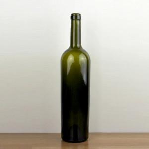 750ml Taper shape Glass Wine Bottle