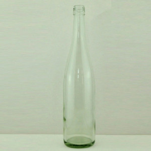 750ml tapered screw top clear/flint/transparent bordeaux wine bottle