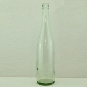 750ml tapered screw top clear/flint/transparent bordeaux wine bottle