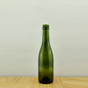 375ml dark green claret wine bottle