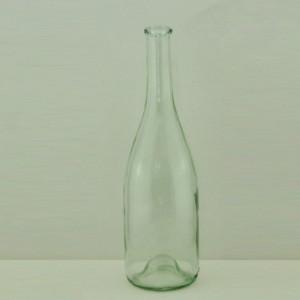 High quality flange top wine glass bottle burgundy dark green glass bottle