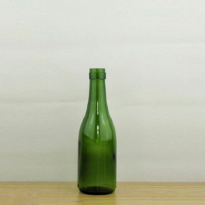 187ml empty dark green mini wine bottles for sale