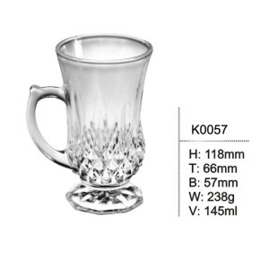 classical design diamond glass cup