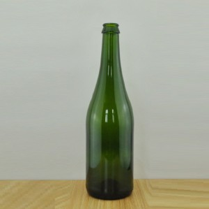 750ml dark green sparkling bottle champagne bottle wholesale glass bottle