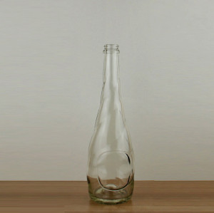 Very beautiful champagne red wine bottle
