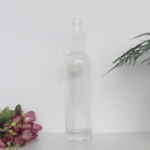 750ml round shape customize liquor glass bottle