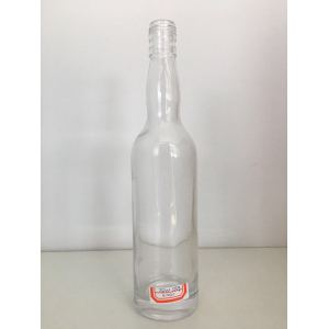 Heigh quality clear flint 750ml liquor bottles Vodka glass bottle