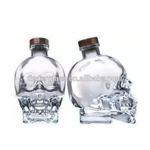 750ml skull glass bottle