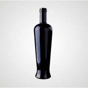 500 ml (17 fl oz) Black Long Neck Glass Bottle For Drinks