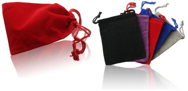 Soft Velvet drawstring usb flash drive pouch bag
