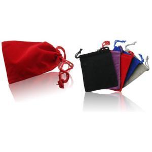 Soft Velvet drawstring usb flash drive pouch bag