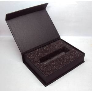 Black cardboard gift box with magnet ,wholesale USB gift boxes
