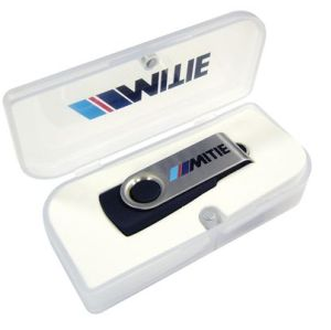 White Plastic box Usb Flash Drive