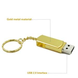 Metal Swivel USB Flash Drive Gold USB Drive