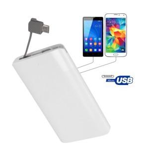 Ultra Thin Credit Card Mobile Power Bank 2600 mAh Polymer Pocket Power