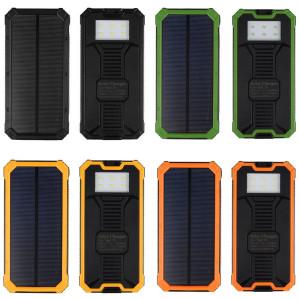 Solar Power Bank Dual USB 30000mAh Mobile Portable Charger Polymer Power bank Battery