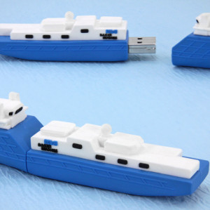 16GB Cargo Ship PVC USB Flash Drive for Pormotional Gift