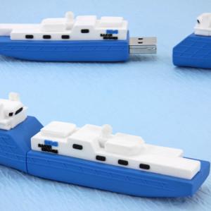 16GB Cargo Ship PVC USB Flash Drive for Pormotional Gift