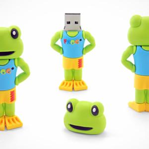 16GB Frog Shape PVC USB Flash Stick USB Drive