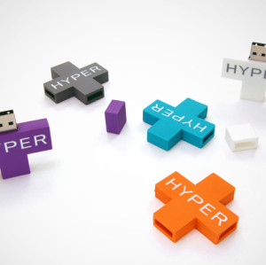 PVC USB Flash Stick 32GB Plus Shape USB Drive