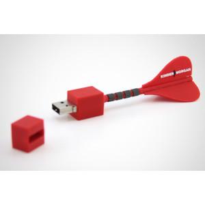 PVC USB Flash Stick 16GB Darts Shape USB Drive