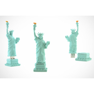 Statue of Liberty Shape PVC USB Flash Stick