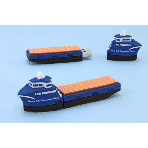 Freighter Shape PVC USB Flash Stick