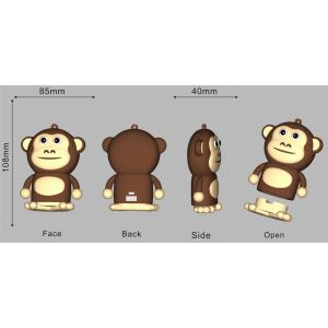 5200mAh Custom PVC Power Bank Monkey Shape