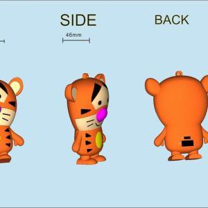 Custom Design Small Tiger PVC PowerBank