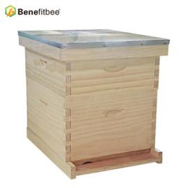 2018 Neuer kundenspezifischer Entwurf vervollständigt 10 Rahmen hölzernen langstroth Bienenstock