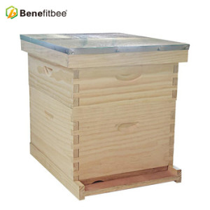 2018 New custom design complete 10 frame wooden langstroth beehive