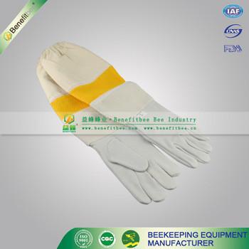 Apicultura guante de malla transpirable abeja guantes apicultura equipo, apicultura equipo de protección