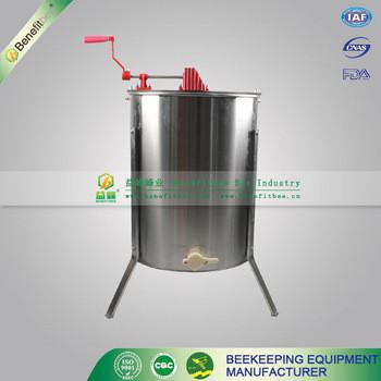 Extractor de miel manual de 4 marcos, acero inoxidable