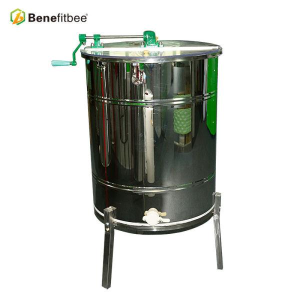Herramientas de apicultura OEM 2 marcos Extractor de miel manual de acero inoxidable