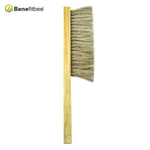 Dual Rows Bee Frame Wooden Handle Bee Brushes For Beekeeping Tools