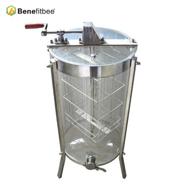 Extractor de miel transparente de acero inoxidable de 2 cuadros / 3 marcos Extracción de apicultura