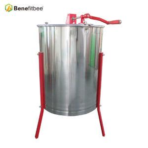 Extracteur manuel de miel d'acier inoxydable de 4 armatures pour le processus de miel
