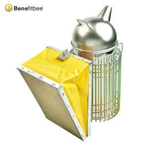 Fumoir respectueux de l'environnement en cuir apte à l'apiculture en acier inoxydable