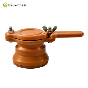 Manufactory Customized Orange 1.89 Inch ABS Round Honey Gates For Beekeeping Equitment