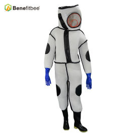Sting Proof Best Beekeeping Suit White Breathable PVC Inspissate Protective Suit Benefitbee