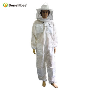 2018 Beekeeping tools White Round Hat PVC Protective Bee Suit For Beekeeper